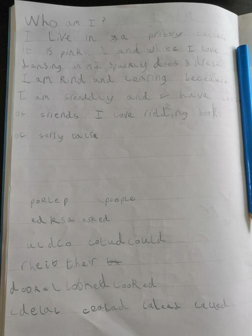 A lovely description of the princess Tessa, well done!