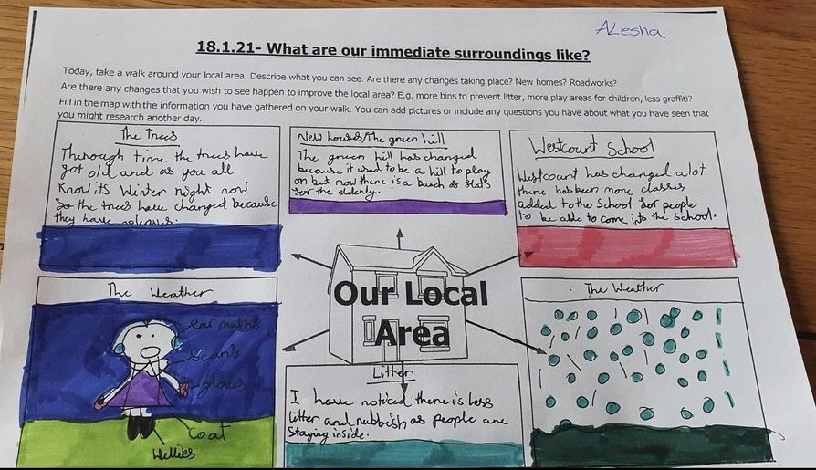 Alesha's beautifully presented local area study.