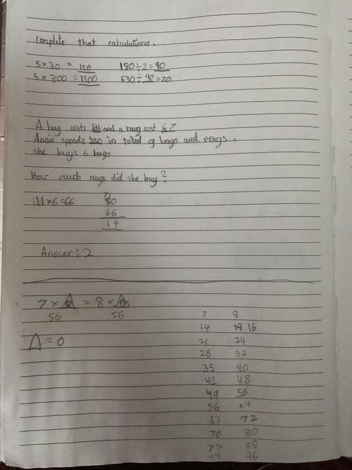 Calculations by Aarya