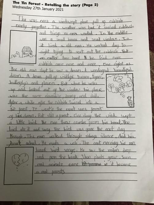 Great build up of the story retelling Aarya'