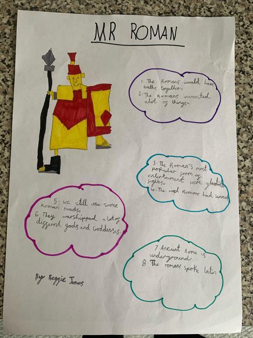 I love your Roman Soldier Reggie!