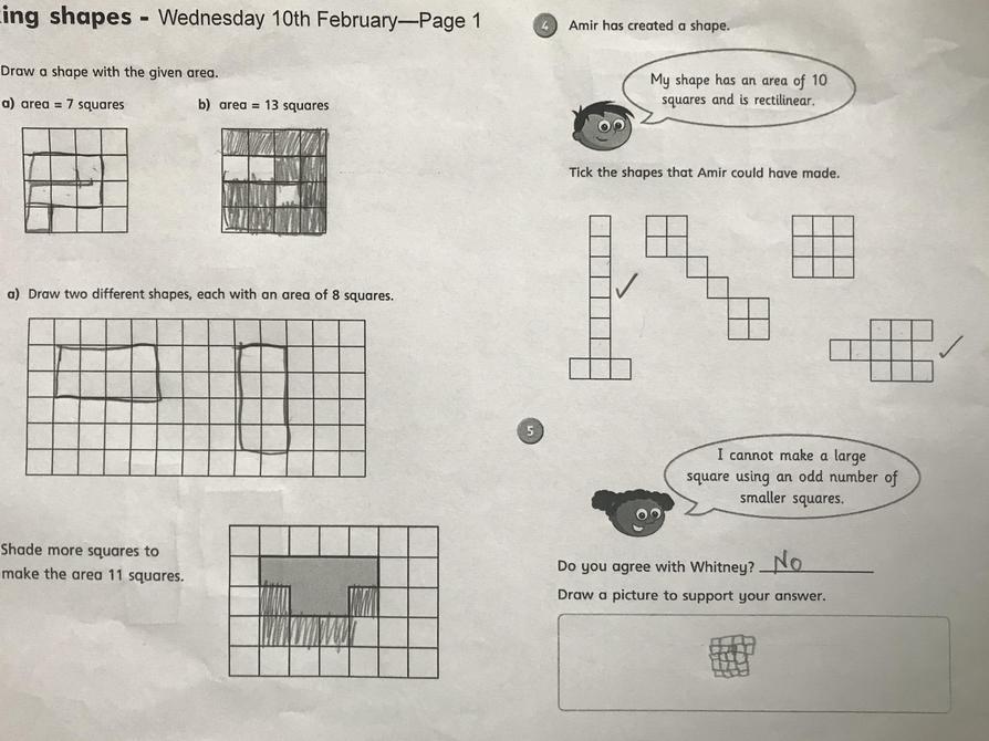 Great maths work Aarya