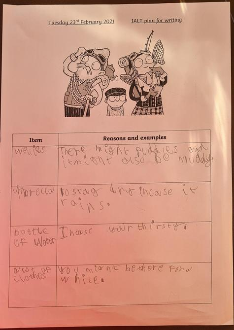 Great English work Oliver!