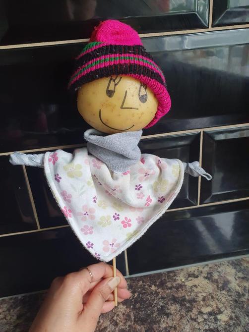 Bhuvi' s potato puppet