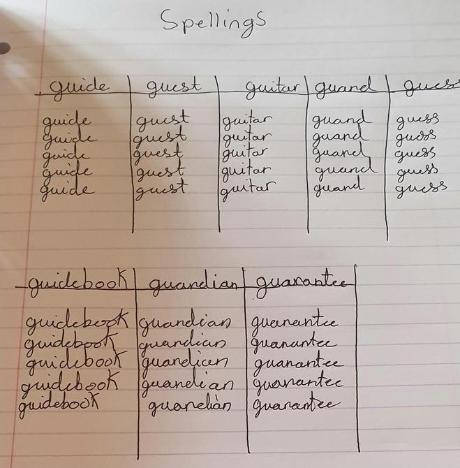Super spellings practice by Alesha