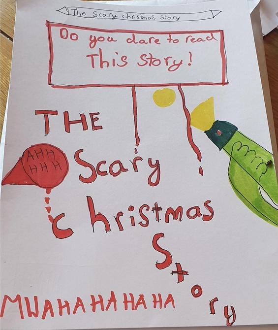 Alesha is writing a scary Christmas story!!!