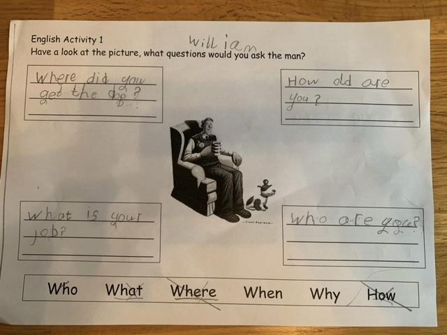 Well done for using different question starters William