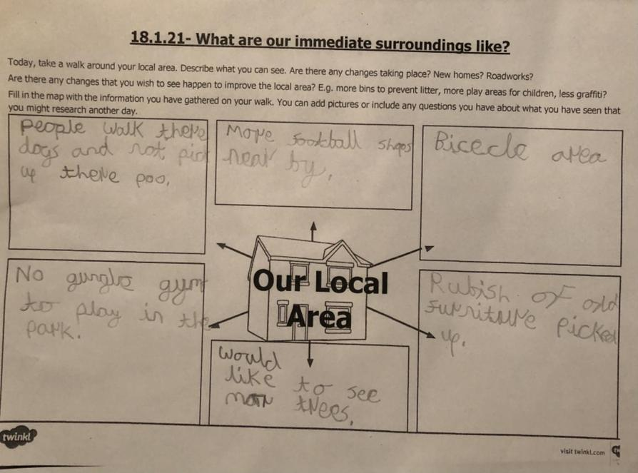 A local area survey by Matthew