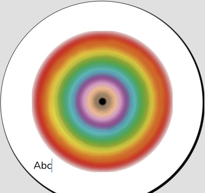 Iris' rainbow spiral