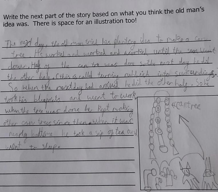 Rehan's tin forest story - I love the idea of can trees!