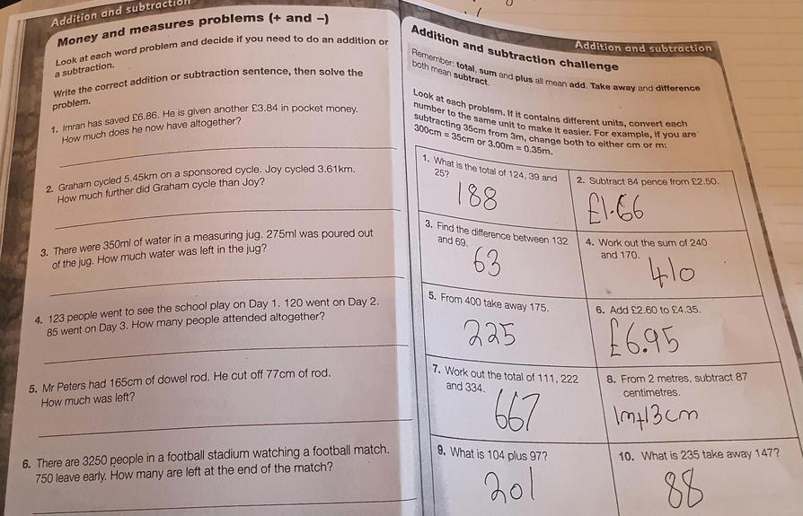 Great Maths work from Alesha!