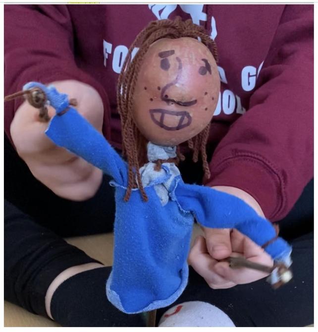 Excellent potato puppet Charlie