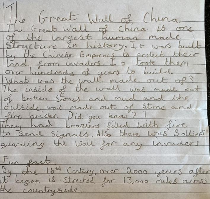This is a really good piece of information writing Sienna.