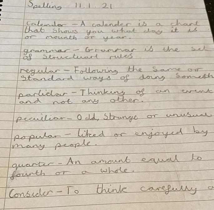Super spelling definitions by Sienna