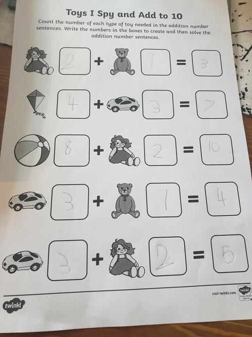 Excellent Maths work Aiden