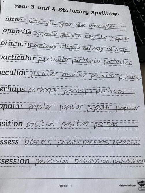 Look at that beautiful handwriting Areeb!