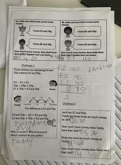 Great maths work Harry!