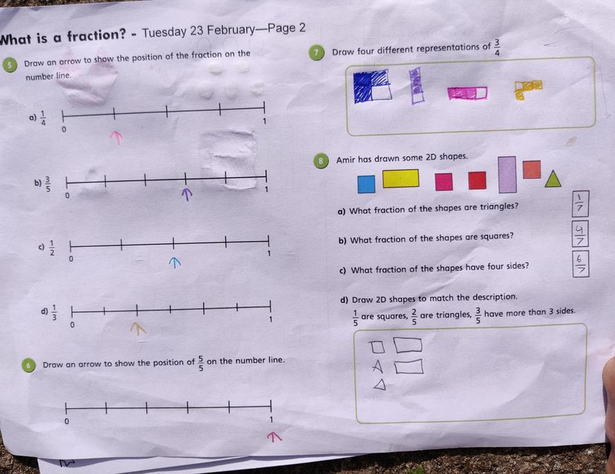 Well done with your fractions Aarya