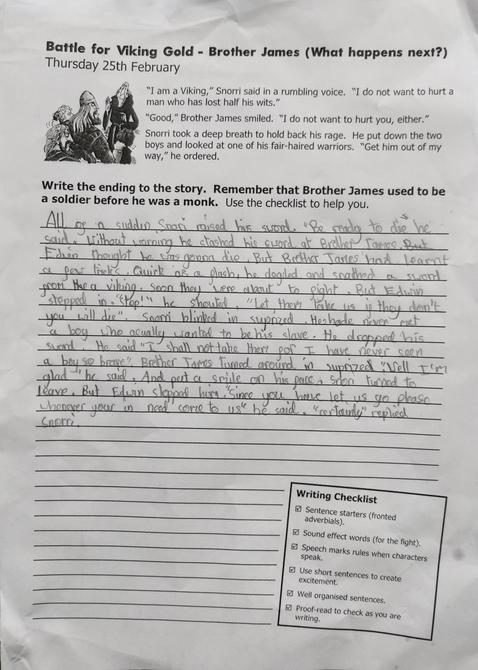 Excellent evidence of using the writers checklist Aarya