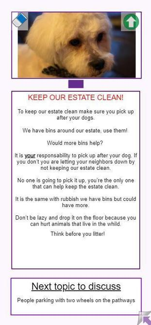 Sienna made this leaflet to encourage people to look after the local area.