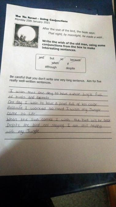 Fantastic use of conjunctions George