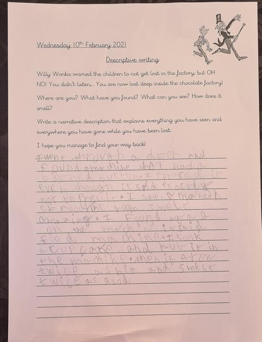 Fantastic writing Oliver well done!