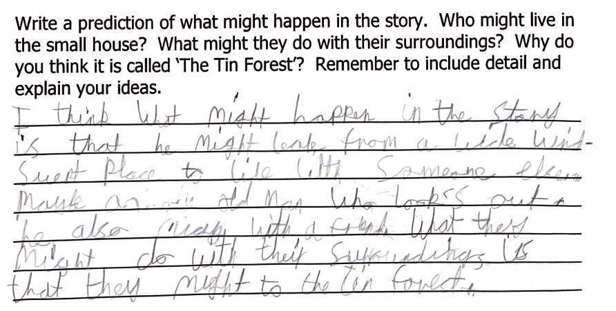 Tin Forest prediction by Ariana