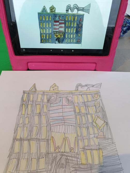 Fantastic effort Jessica - I can see lots of effort has gone into your drawing!