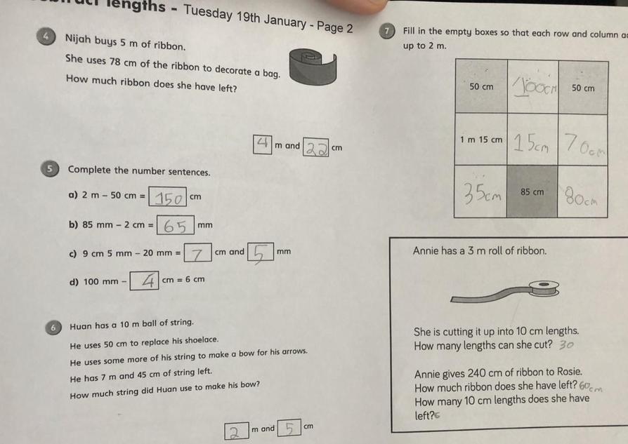 Lovely maths by Matthew!