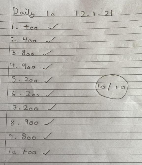 Great rounding by Sienna!