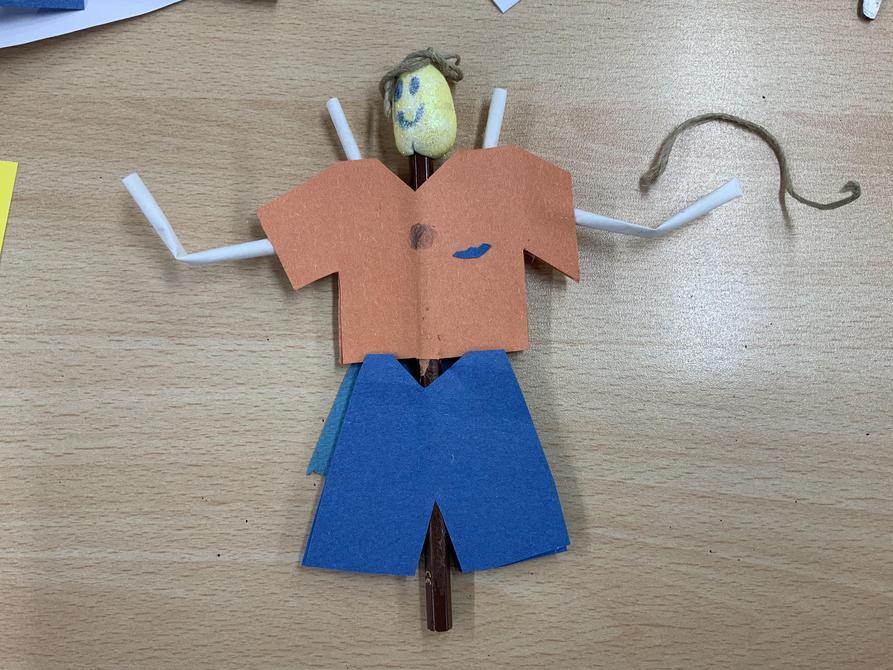 Regan's potato head puppet-Love the creativity