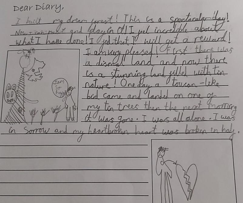 Diary entry by Rehan - a very nice contrast of feelings.