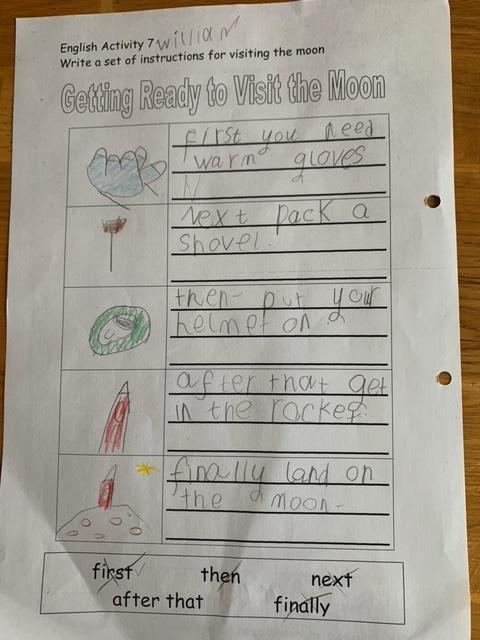 Brilliant instructions William, a great big well done to you