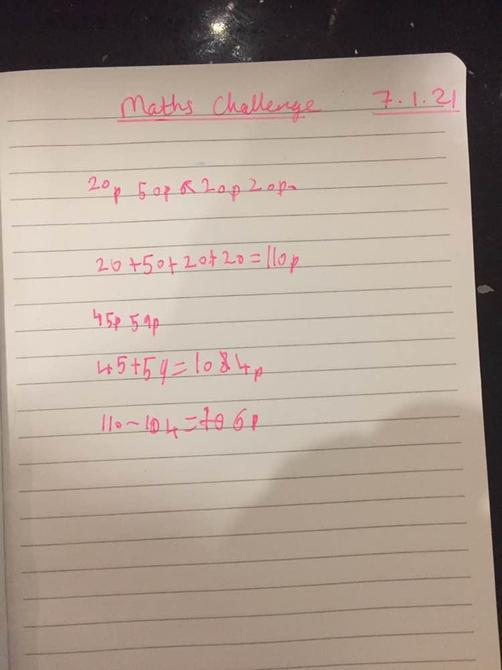 Great maths problem solving Talia