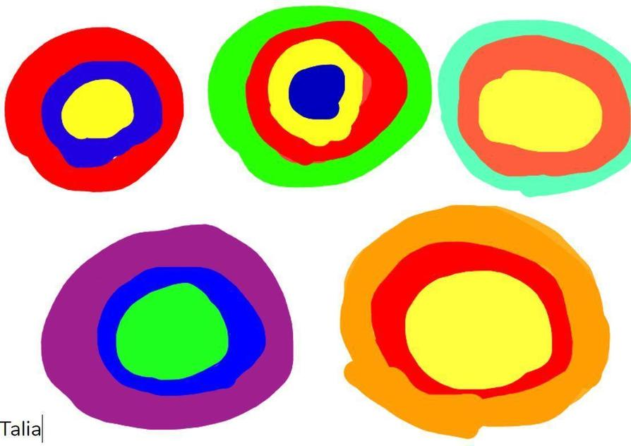 Kandinsky Circles by Talia