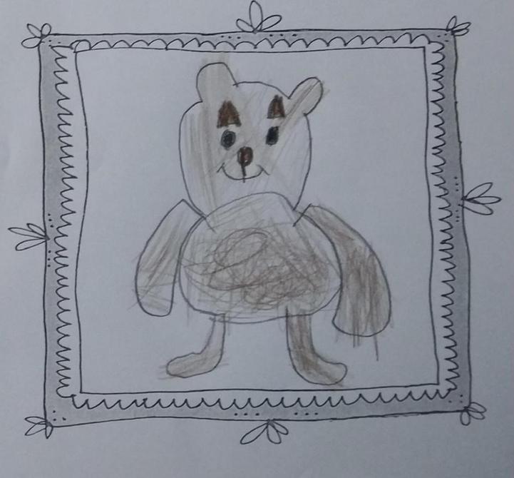 A very cute Teddy drawn by Nikolai