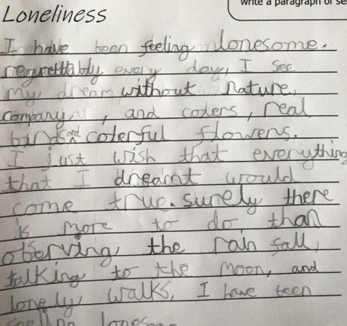 Tin Forest Loneliness poem by Matthew - nice word choices!