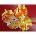 Nursery crafted Shere Khan masks.