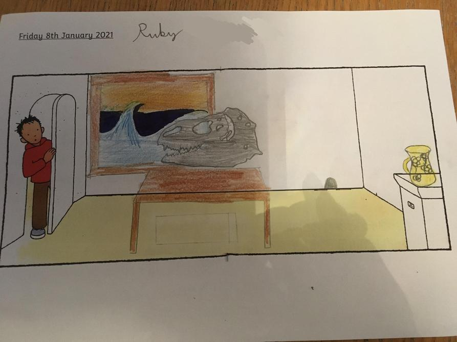 Fantastic drawing of the museum Ruby!