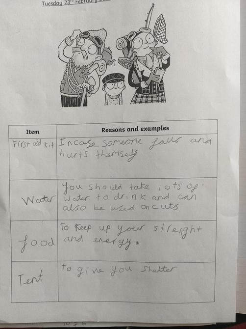 Great English work Libby!