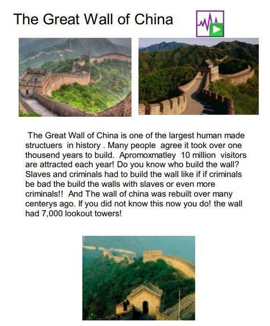 Great Wall of China - final piece by Noah!