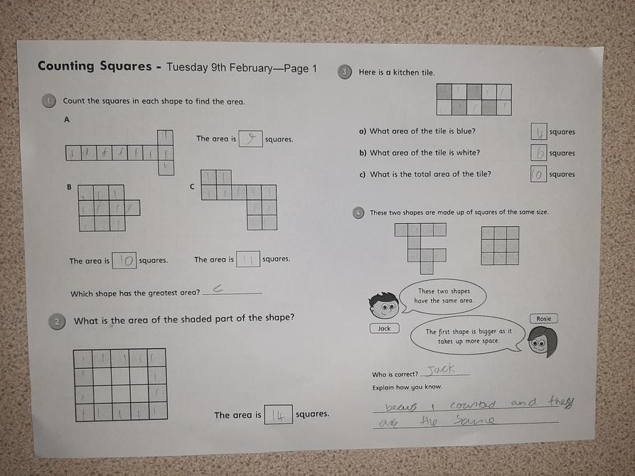 Fantastic Maths work Danny P
