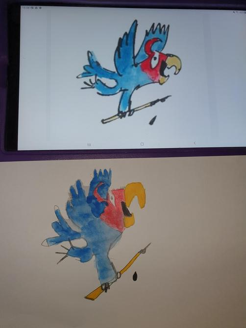 Wow Lewis, what an amazing piece of art work you have created! Just like Quentin Blake!