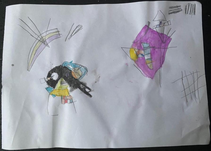 Kandinsky inspired art by Talia