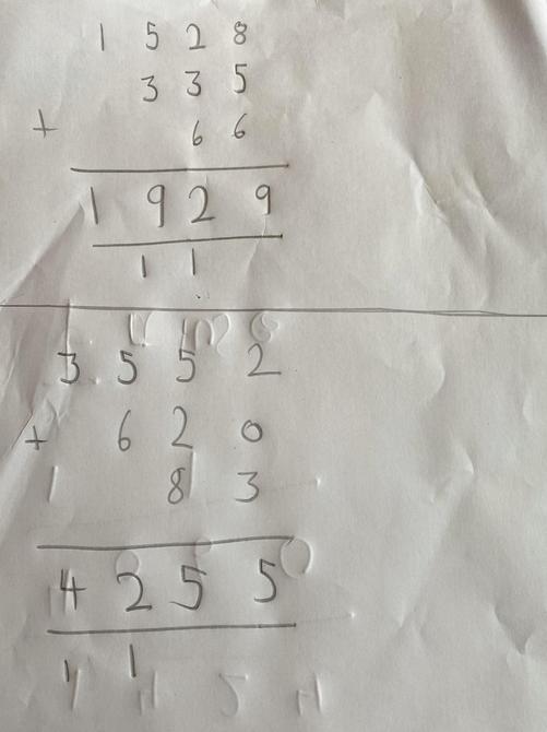Super maths Sienna!