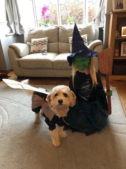 The Wicked Witch of the west and her flying monkey