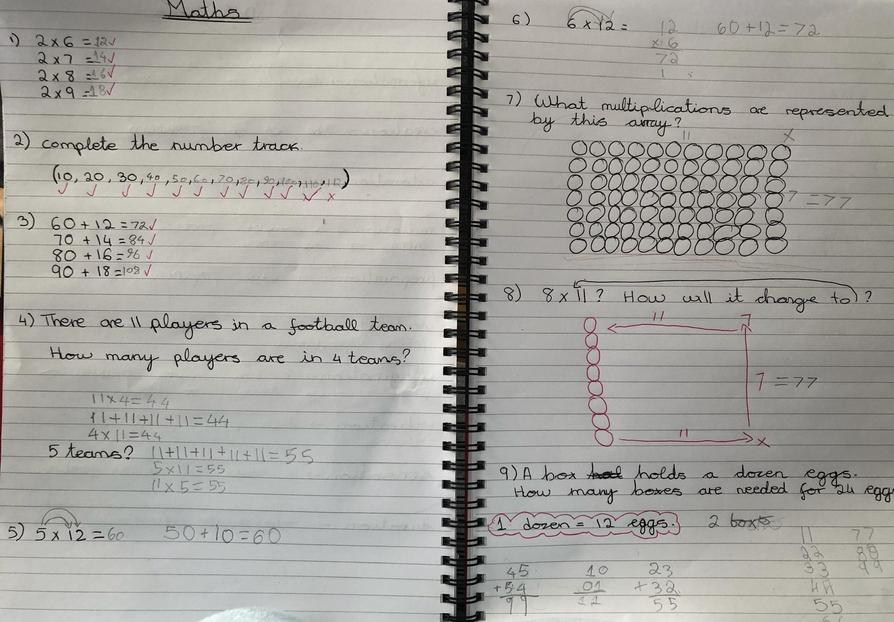 Super maths work - lots of jottings and drawings Matthew!