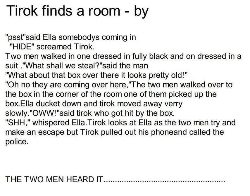 Alesha's next part of the Tirok story.
