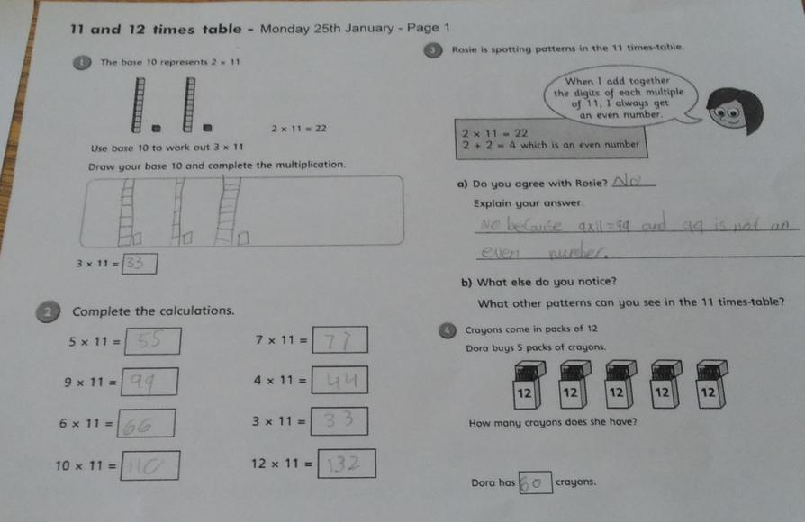 Great maths work by Grace