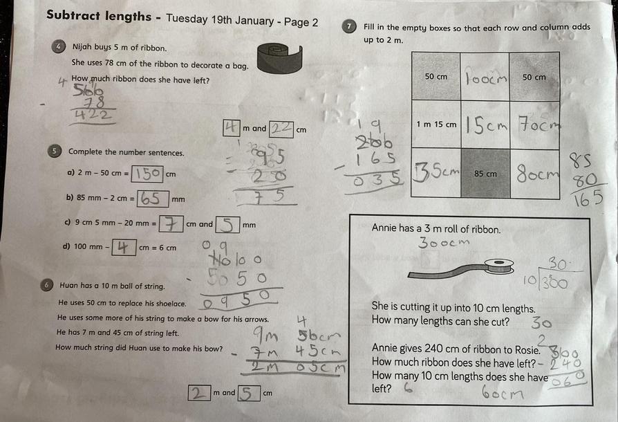 Great maths by Sienna